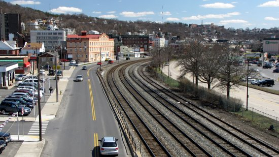 Cumberland as viewed from the tracks