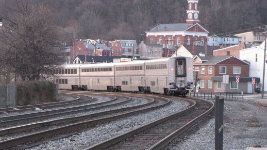 The train departs Cumberland.  Next stop: Connellsville, Pennsylvania.