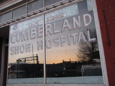 Cumberland Shoe Hospital at sunset