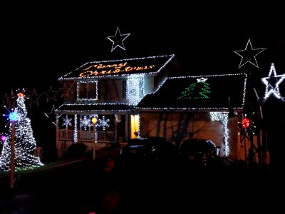 Light show on Red Hill Way in Ellicott City