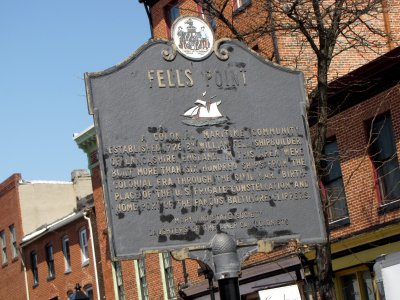 Fells Point historical marker
