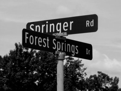 Street signs in a Stuarts Draft, Virginia neighborhood.