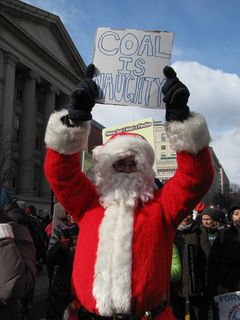 "Santa Claus: ""COAL IS NAUGHTY"""