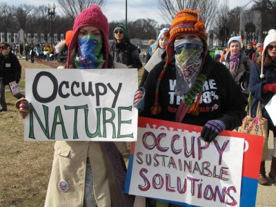 "Bandanna masks with ""OCCUPY"" signs"