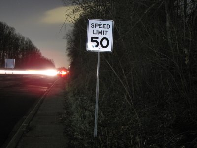 50 mph speed limit, seen here near Leisure World Plaza