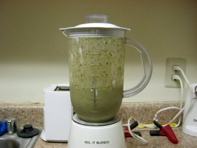 "All blended!  And yes, my blender says, ""YES, IT BLENDS!"" on the front of it."