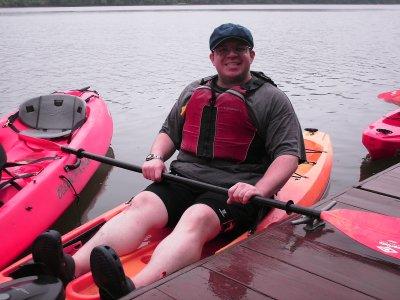 I'm sitting in kayak #1