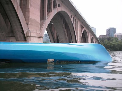 The second kayak, after I capsized it.