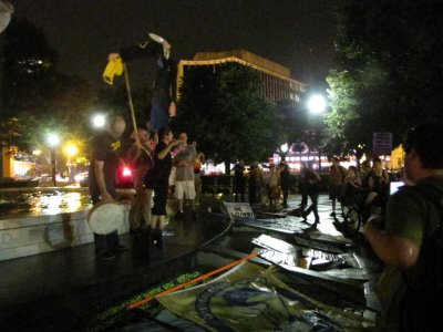 The people on the fountain in Dupont Circle