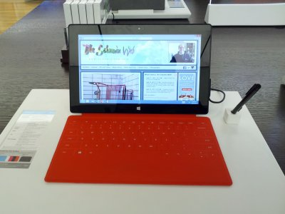 Surface tablet at the Microsoft Store