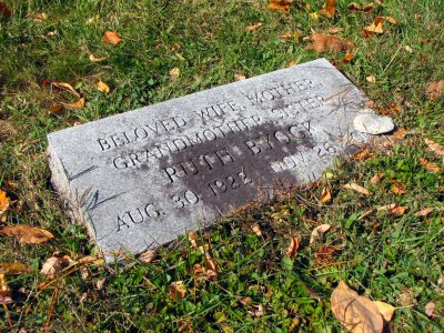 Aunt Ruth's marker.