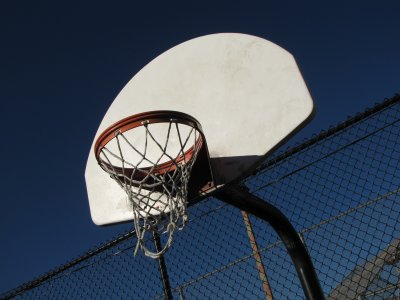 Basketball goal at Stead Park