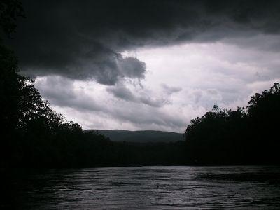 The clouds got really dark...