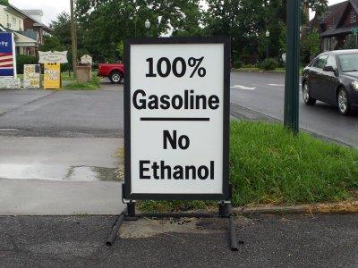 100% gasoline.  No ethanol.