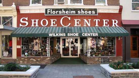 Vintage shoe store sign.