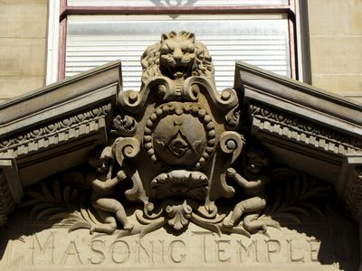 Pete and I were also both intrigued by the carvings on the Masonic Temple building.