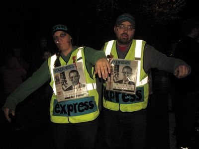 Zombie Express hawkers.  This was a real hoot, as they not only did the vest, but they also dummied up the cover of an Express issue.