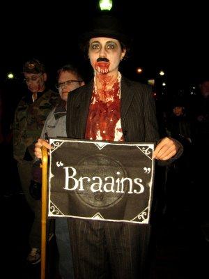 Zombie Charlie Chaplin.