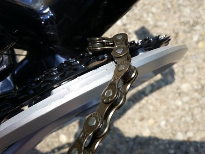 The chain, chewed up ever so slightly.