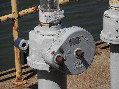 Close-up of intake valve #2 bottom.