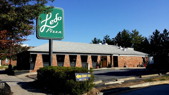 Two or three blocks south on Georgia Avenue NW is Ledo Pizza, a local chain of pizza restaurants, in this case housed in a former Pizza Hut building.