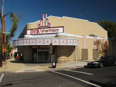 This one is a little unusual, and does not really fall under the same category as the rest.  This is the former Newton Theatre, which began life as a movie theater, became a music performance venue, and now is a CVS.