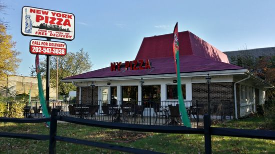 This former Pizza Hut on Pennsylvania Avenue SE is now another New York Pizza location.  Inside, it still looks very much like a Pizza Hut as well.