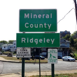 Ridgeley, West Virginia: Town License Required.