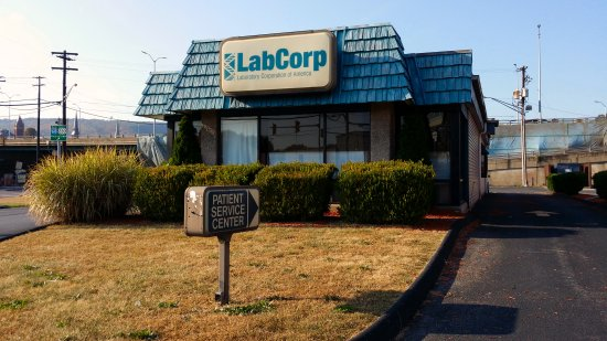 LabCorp in Cumberland, in a converted Dunkin Donuts building