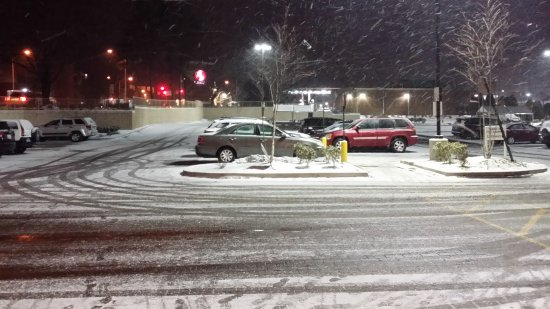 The parking lot at the Safeway in Olney at around 10:00 on Wednesday night.