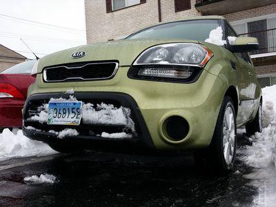 "Obligatory ""hero shot"" of the car after being released from the snow's icy hold."