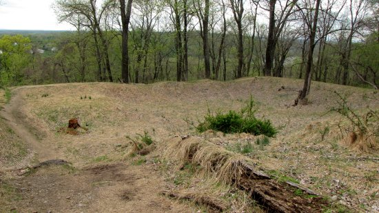The site of a Civil War-era stone fort
