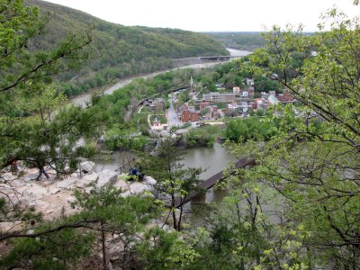 The initial view from the overlook
