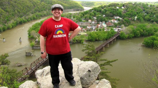 Standing next to the view of Harpers Ferry