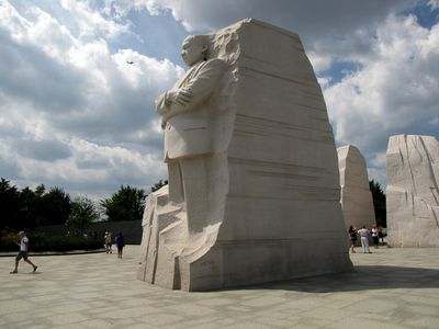 The MLK Memorial again, viewed from the side.