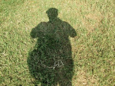 My own shadow, as I was approaching the monument for the second pass close by.