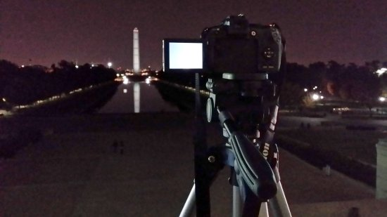 "Another ""meta"" shot, this one at the Lincoln Memorial."