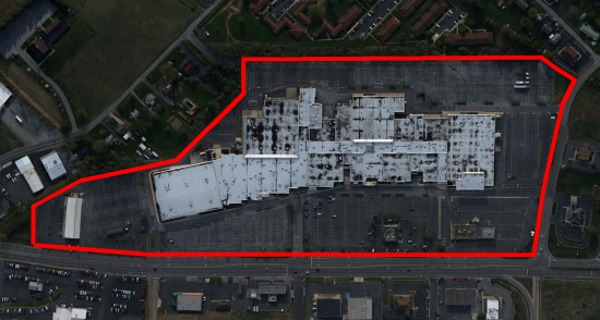 Outline of the Staunton Mall property