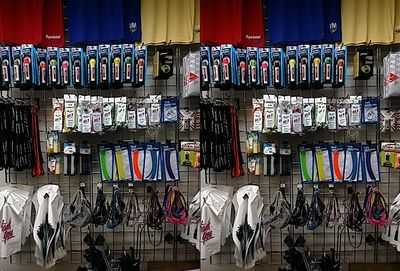"""It's a good thing that the staff at Aardvark knows me well.  I commented while taking this one, """"Now to decide what color bungee cord to get.  Might as well decide... in 3D!"""""""
