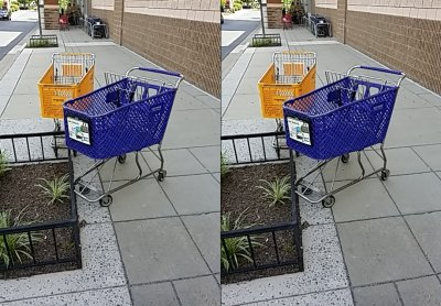 Shopping carts for hhgregg and Bed Bath & Beyond