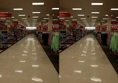 The main aisle at Target