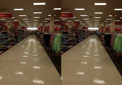 The main aisle at Target