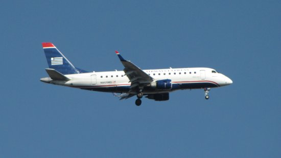 N805MD, an Embraer ERJ-170-100SU for US Airways Express, and likely to be repainted for American Eagle before too long.