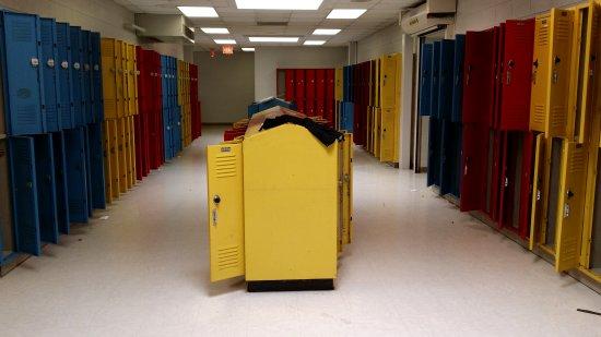The seventh grade locker area