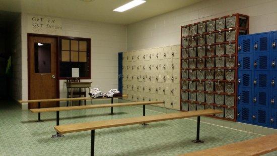 Boys' locker room