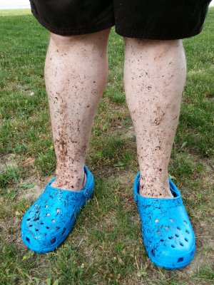 My legs after power washing a bunch of stuff