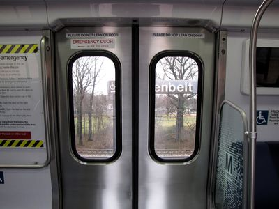 The doors are more or less the same as on older railcars, though a bit shinier than before.