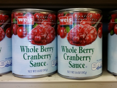 """This is that weird kind of cranberry sauce that doesn't look like the can it came out of."""