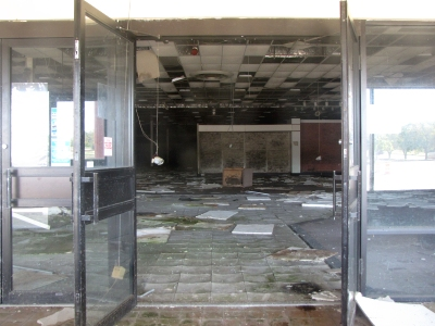 Interior of the former Ames store
