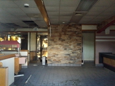 Interior of the former Hardee's